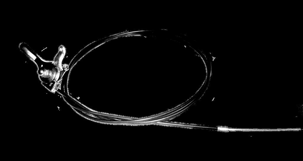 Замена троса регулировки оборотов двигателя резчика швов