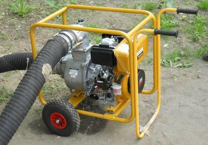 Замена / установка колеса мотопомпы