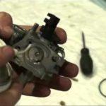 Чистка карбюратора и его регулировка виброплиты