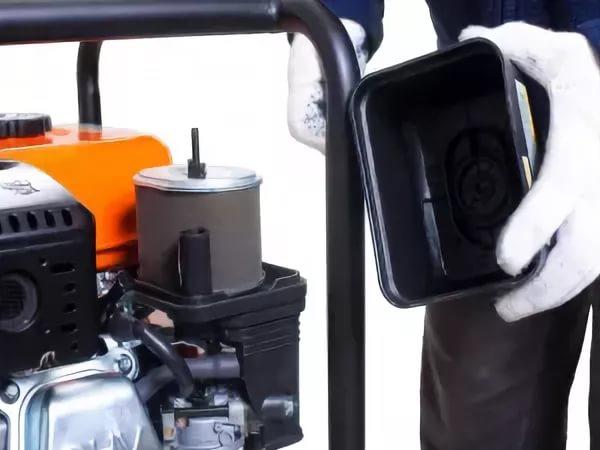 Замена воздушного фильтра мотопомпы