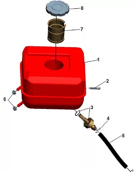 Чистка топливного фильтра в топливном баке мотопомпы