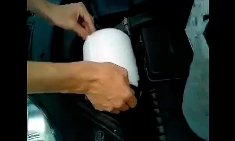 Чистка воздушного фильтра резчика швов
