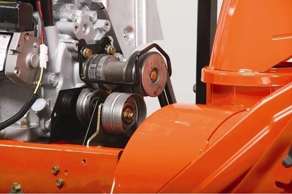 Замена / установка пружины тяги ролика натяжения ремня шнека снегоуборщика
