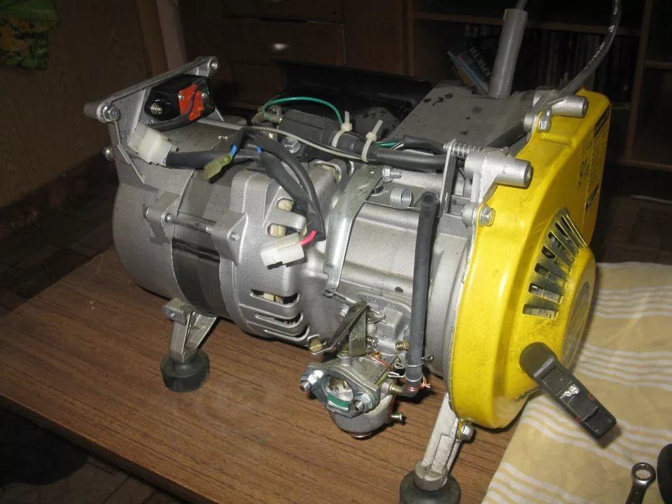 Замена двигателя бензогенератора