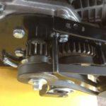 Замена / установка пружины ролика натяжения ремня хода снегоуборщика