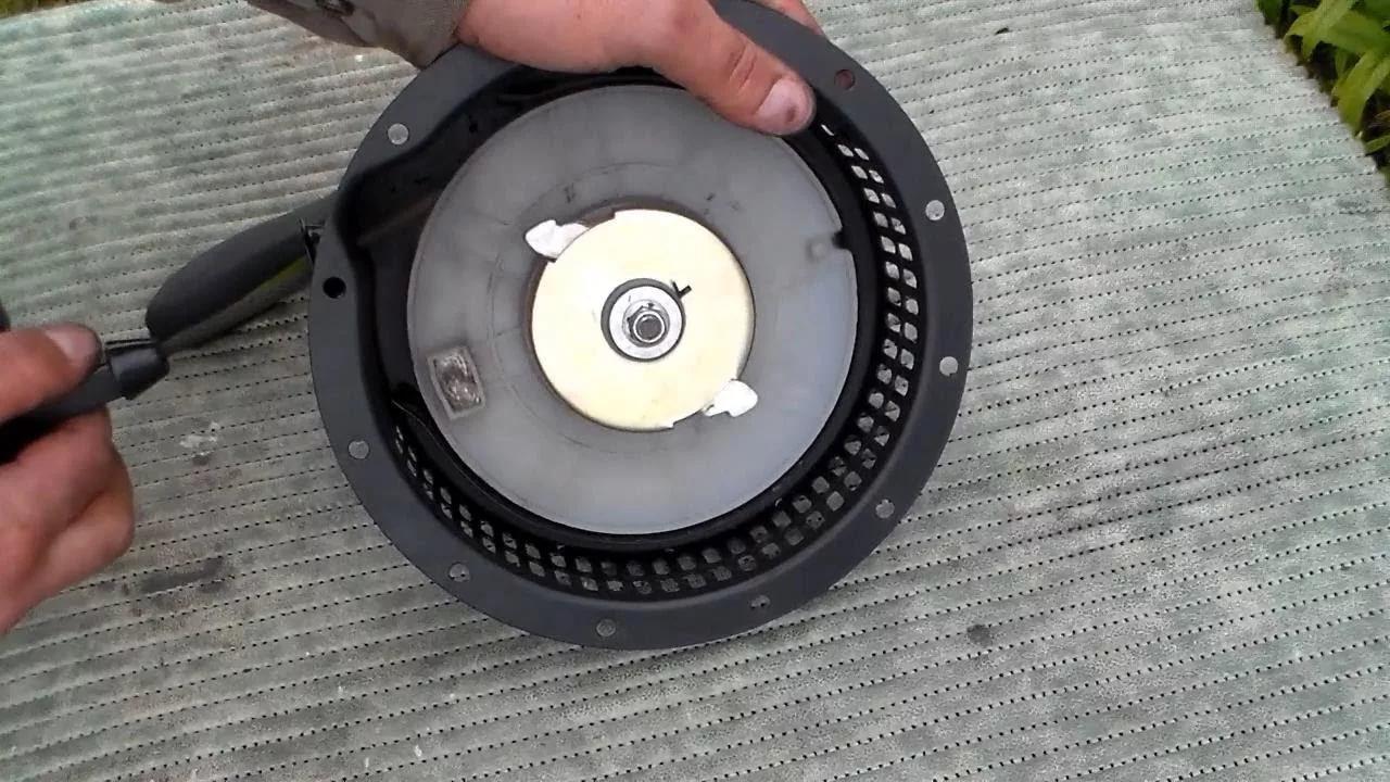 Замена / установка чашки стартера снегоуборщика